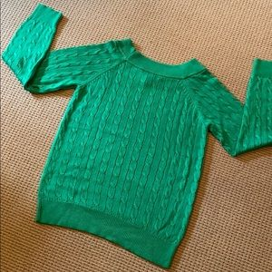 🔴.RALPH LAUREN GREEN SWEATER